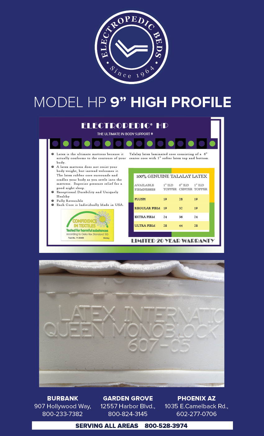9andquot; HIGH-PROFILE Latex Mattress phoenix natural bed organic