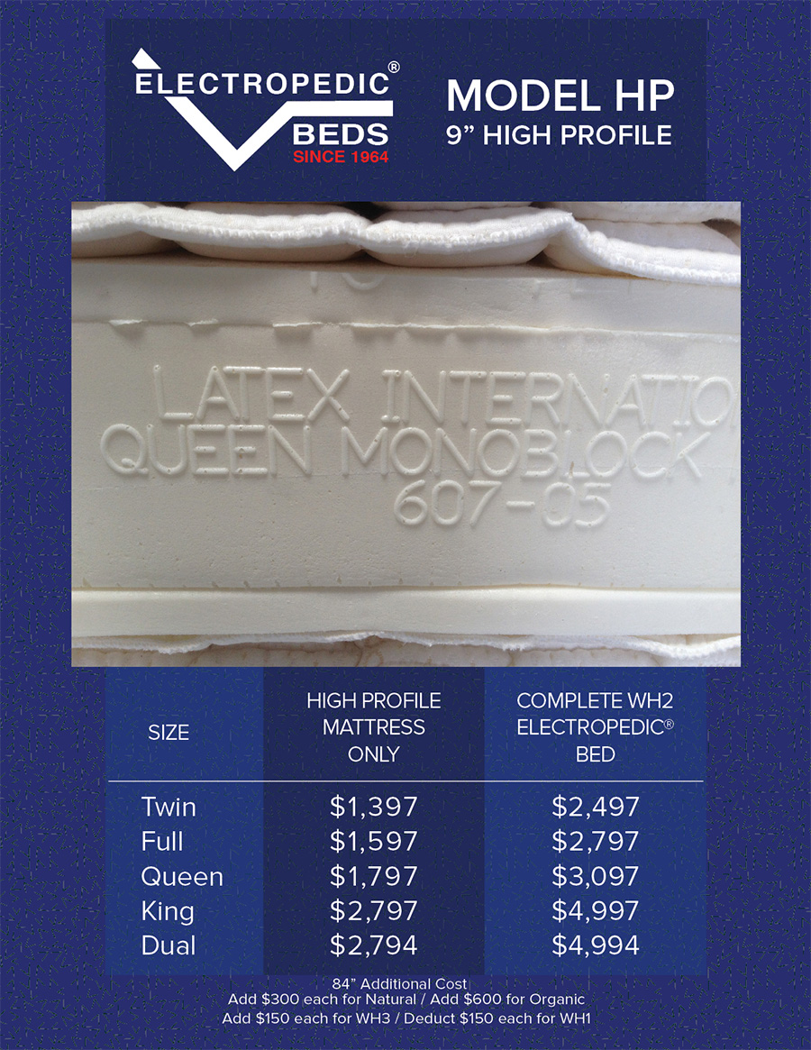 HIGH-PROFILE 9andquot; Latex Mattress