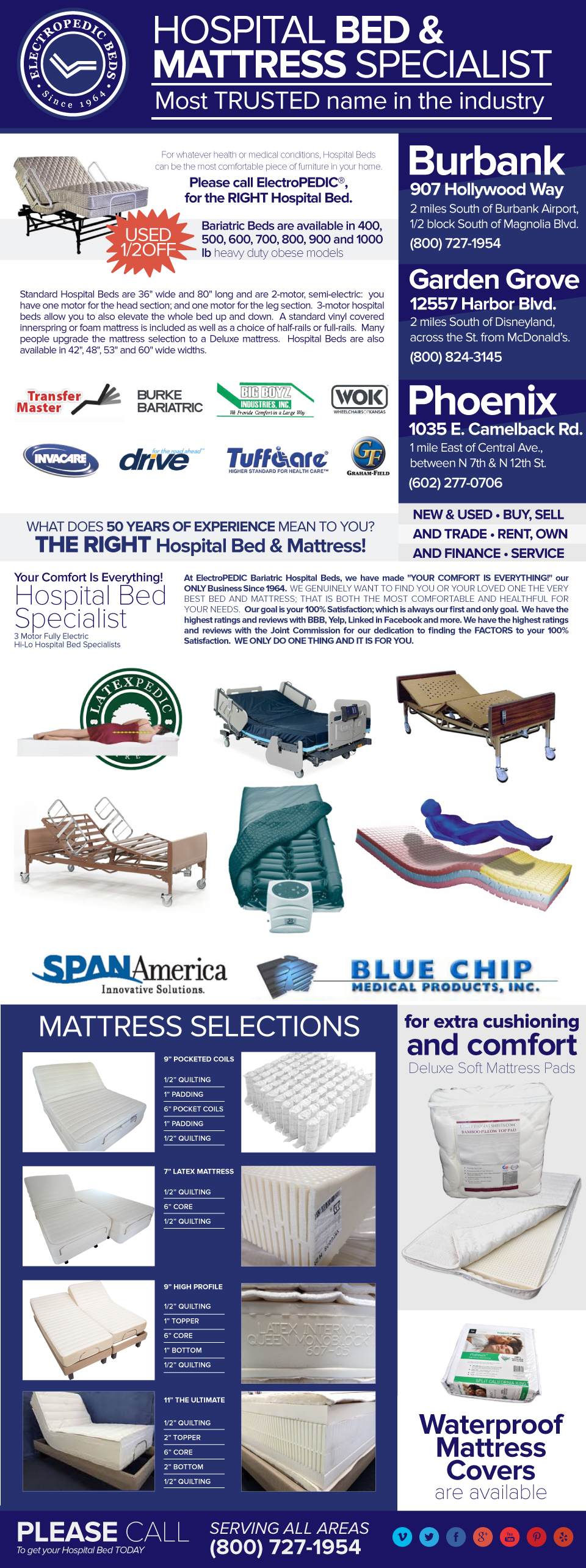 Disability Bariatric Adjustable Hospital Beds